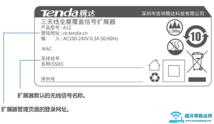 腾达(Tenda)A12默认登录网址是什么?【图解】
