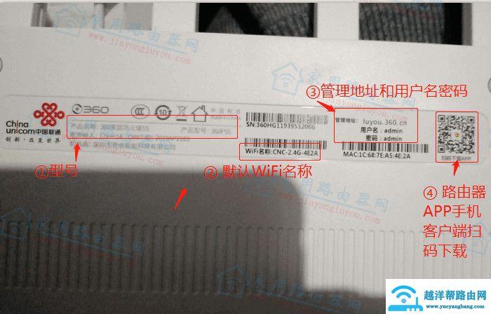 360路由器F5S联通版登录网址是多少?【图解】